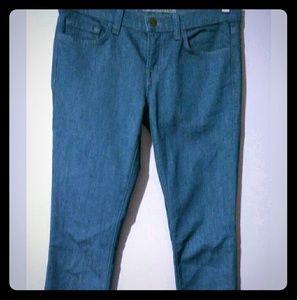 "J BRAND 'Pencil Leg' Colored SkinnynBlue Jeans 27"""